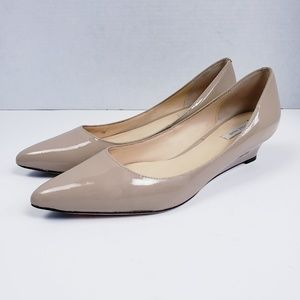 Cole Haan Bradshaw Pointed Patent Wedge Shoe 7.5